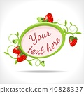 floral background with strawberry 40828327