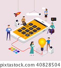 Flat design concept vector illustrations. 40828504