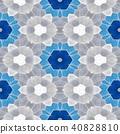 mosaic kaleidoscope seamless background blue gray 40828810