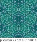 mosaic kaleidoscope seamless background blue green 40828814