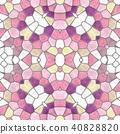 mosaic kaleidoscope seamless background pink 40828820