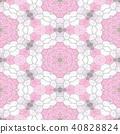 mosaic kaleidoscope seamless background pink 40828824