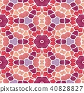 mosaic kaleidoscope seamless background red 40828827