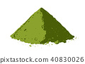 Vector hand drawn matcha illustration 40830026