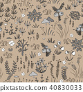 Vector modern floral seamless pattern  40830033
