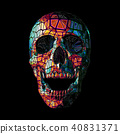 Colorful triangle skull head scream illustration 40831371