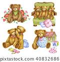 毛絨玩具 手繪 數字動畫 40832686