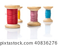 coils with colorful thread 40836276