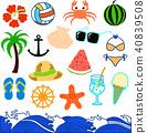 Summer illustration set 40839508