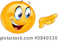 pointing right emoticon 40840330