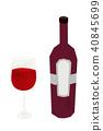 와인 레드 와인 일러스트 40845699