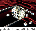 3D Rendering of a diamond close-up inspection 40846764