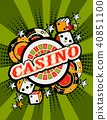 Casino background poster print 40851100