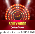Bollywood Indian Cinema Film Banner.  40851168