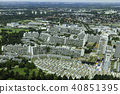Aerial view of Munich Olympic village 40851395