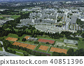 Aerial view of Munich Olympic village 40851396