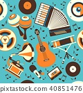 musical Instruments seamless pattern 40851476