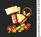 retro accordion music 40851800