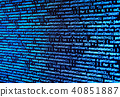 Program source computer data code on monitor 40851887