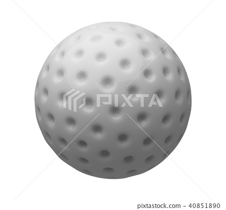 Golf ball isolated on white background. 3d 40851890