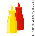 Mustard and ketchup icon. Fastfood isolated. Sweet food and junk food concept. vector 40852033