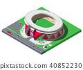 stadium isometric football 40852230