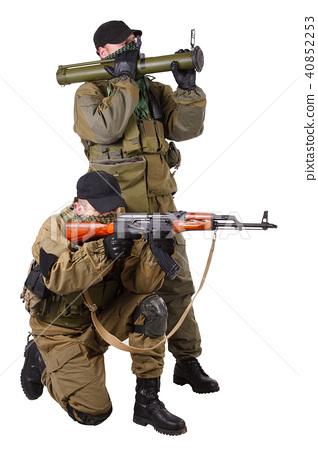 mercenaries with AK 47 and rocket launcher - ภาพถ่ายสต็อก [40852253