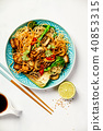 Asian Tofu Soba Noodle Bowl 40853315