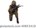British Army Soldier in camouflage uniforms 40853419