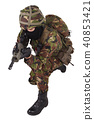British Army Soldier in camouflage uniforms 40853421