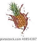 chocolate fruit pineapple 40854387