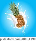 fruit milk pineapple 40854390