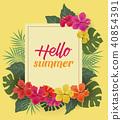 tropical, flower, summer 40854391