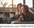 Mother and daughter enjoying each other at home 40854450