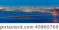 Golden Gate bridge Sunset 40860769