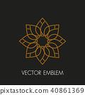 Vector logo design template and emblem  40861369