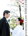 日本礼服婚礼新娘和新郎 40861638