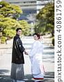 日本禮服婚禮新娘和新郎 40861759