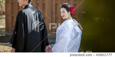 일본식 결혼식 신랑 신부 40861777