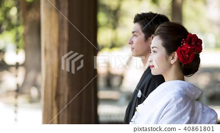 일본식 결혼식 신랑 신부 40861801