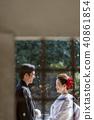 日本禮服婚禮新娘和新郎 40861854