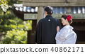 日本礼服婚礼新娘和新郎 40862171