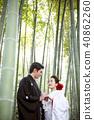 日本礼服婚礼新娘和新郎 40862260