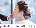 Japanese dress wedding hair makeup 40862312