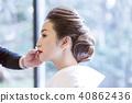 Japanese dress wedding hair makeup 40862436