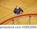篮球男子射门 40862886