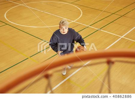 籃球男子射門 40862886