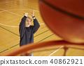 篮球男子射门 40862921