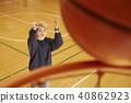 篮球男子射门 40862923