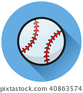baseball ball circle flat icon 40863574